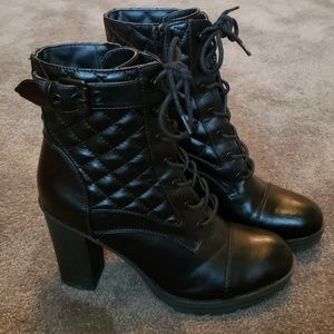 Guess black high heeled boots